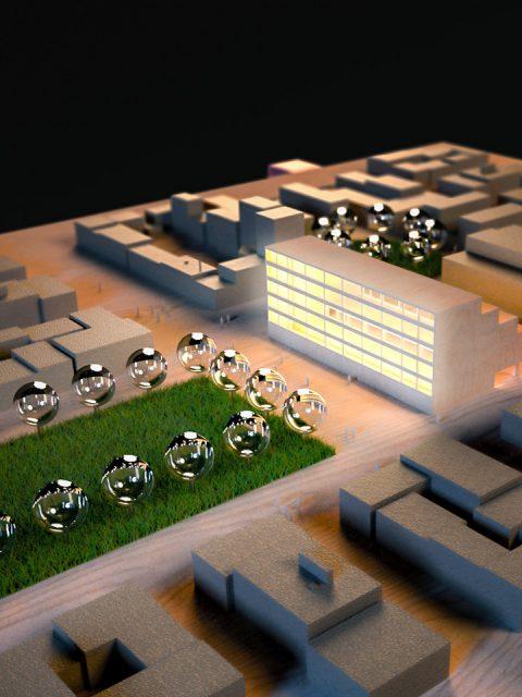 Architektur- und Umgebungs-Visualisierung Massenmodell