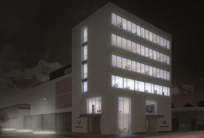 Architektur Wettbewerb Biel Schweiz Nacht-Visualisierung