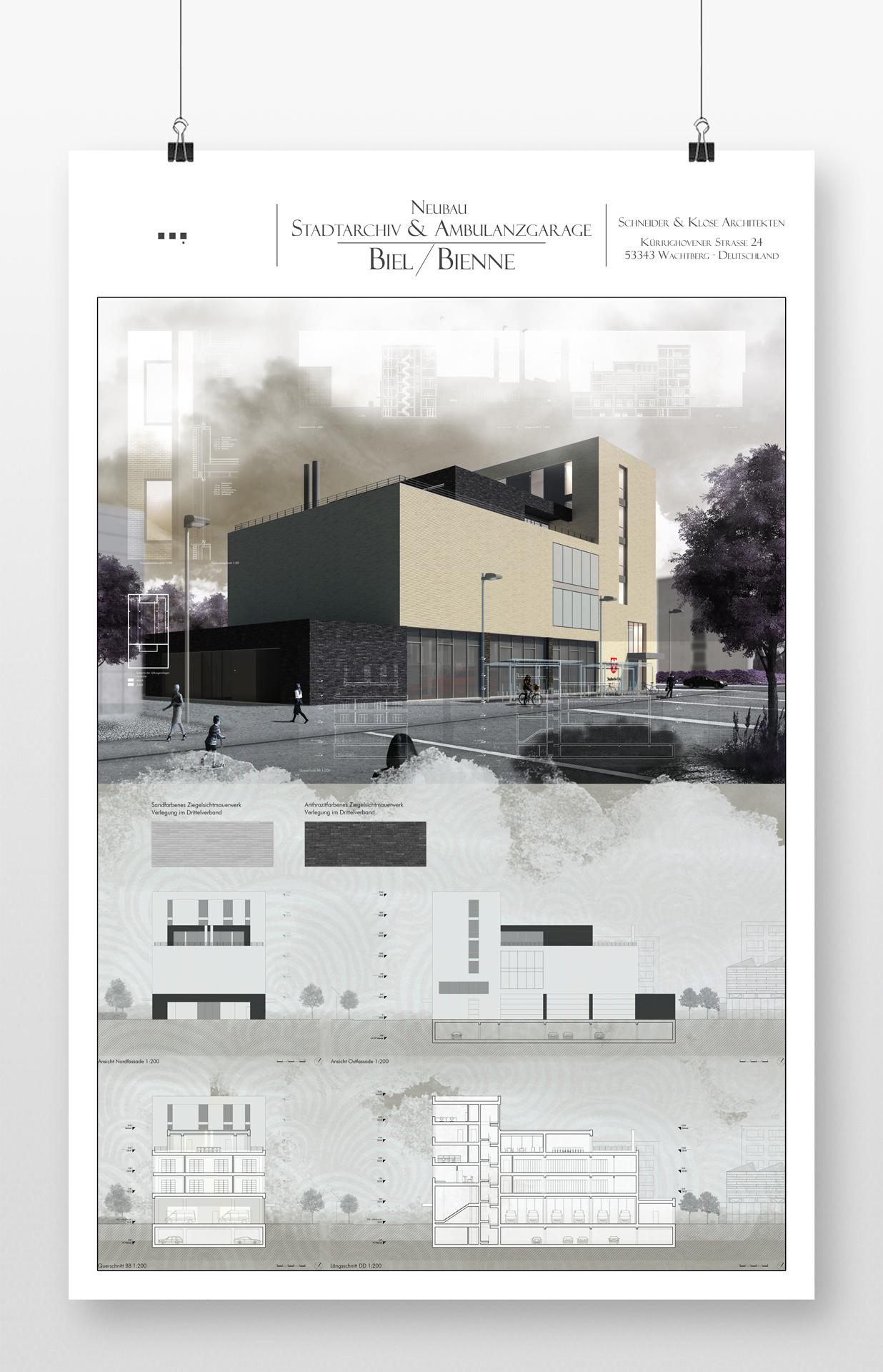 Architektur Zeichnung architektur wettbewerb architektur und 3d visualisierung der