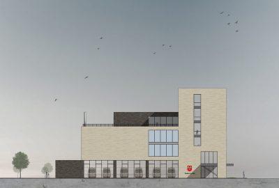 Architektur Wettbewerb Biel Schweiz Schnitt-Visualisierung