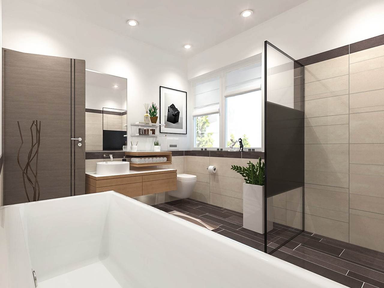 Badezimmer-Visualisierung