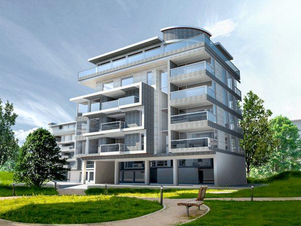 Architektur-Visualisierung Mehrfamilienhaus