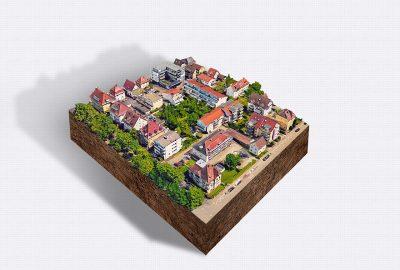 Visualisierung Stadtszene