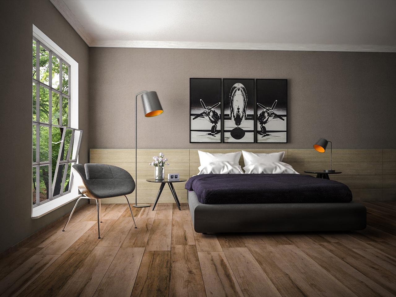 Innenraumvisualisierung-Schlafzimmerszene