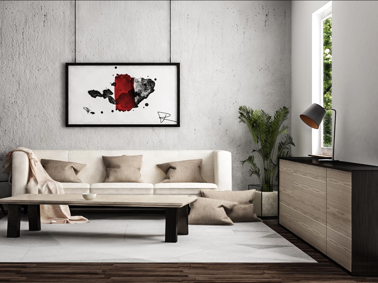 Wohnzimmer Innenraumvisualisierung