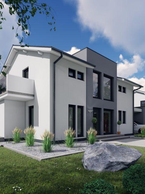 Einfamilienhaus Visualisierung Neubau Norddeutschland