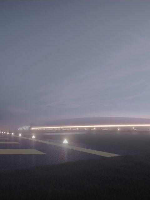 3D Visualisierung: Schwimmender Flughafen Japan