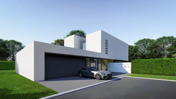 Architektur Visualisierung | Eingangsbereich Villa in Meerbusch