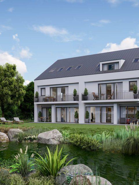 3D-Visualisierung Doppelhaushälfte Krailling: Tag