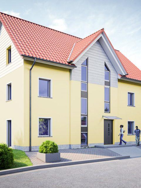 3D-Visualisierung: Einfamilienhaus in Hessen