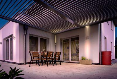 3D Architektur Visualisierung Villa mit Lamellendach