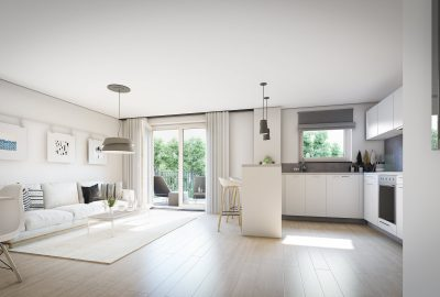 3D Innen - Visualisierung Wohnzimmer Hamburg